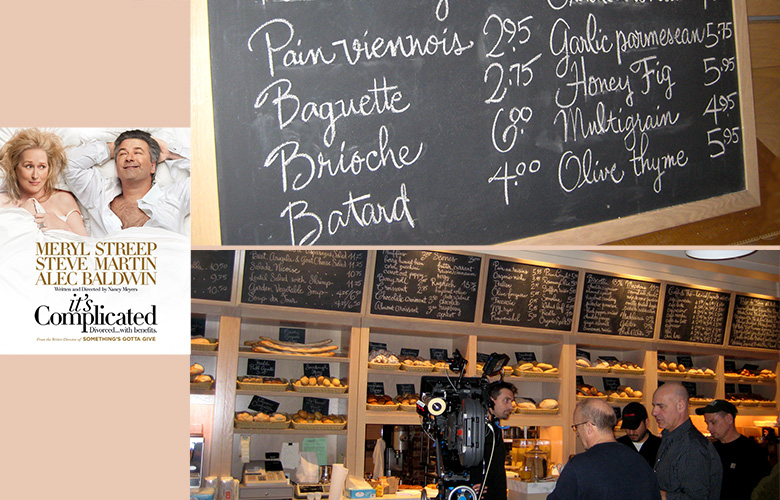 It was complicated! For the set of  Nancy Meyers's romantic comedy, I did menu boards for Meryl Streep's fabulous, sunny bakery in Montecito, California. Except that it was actually in Prospect Park, Brooklyn, in the middle of February.