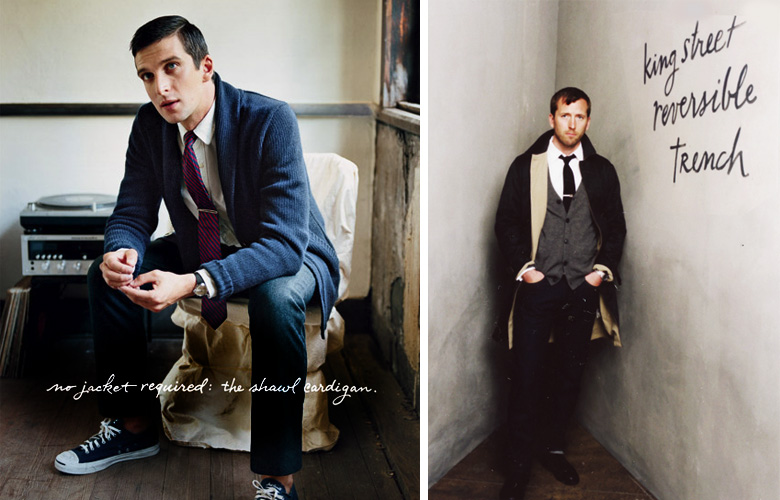 Lettering for J Crew men's catalog. Adorable models at the photo shoot.