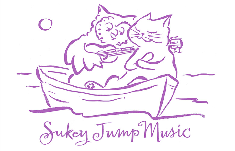 Heidi Swedberg, ukelele teacher and recording artist, asked for an owl and pussycat illustration for her song about the romantic duo.
